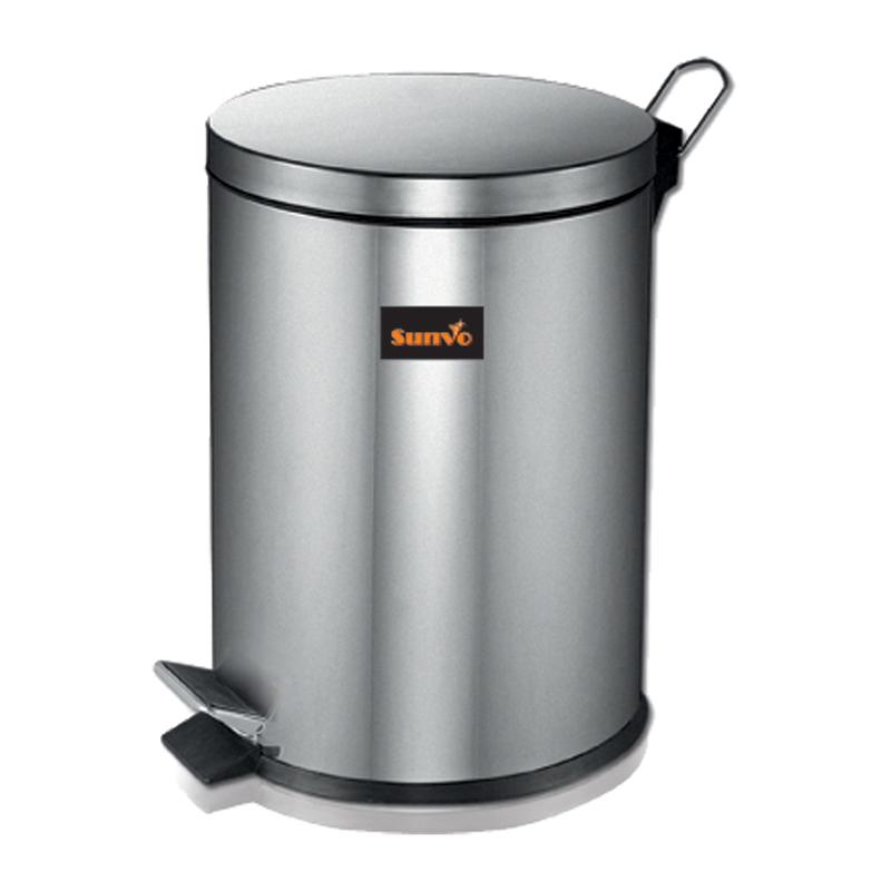 ร ปส นค า Sunvo Stainless Steel Trash Can 20 Liter Silver